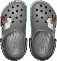 Kids Crocs Fun Lab Train Band Clog Slate Grey