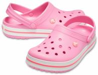 CROCS Crocband Pink Lemonade / White