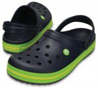 CROCS Crocband Navy / Volt Green